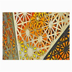 Abstract Starburst Background Wallpaper Of Metal Starburst Decoration With Orange And Yellow Back Large Glasses Cloth (2 Side) by Nexatart