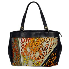 Abstract Starburst Background Wallpaper Of Metal Starburst Decoration With Orange And Yellow Back Office Handbags by Nexatart