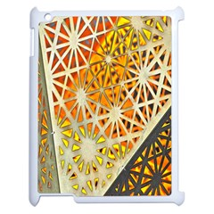 Abstract Starburst Background Wallpaper Of Metal Starburst Decoration With Orange And Yellow Back Apple Ipad 2 Case (white) by Nexatart