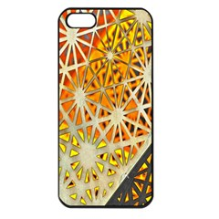 Abstract Starburst Background Wallpaper Of Metal Starburst Decoration With Orange And Yellow Back Apple Iphone 5 Seamless Case (black) by Nexatart