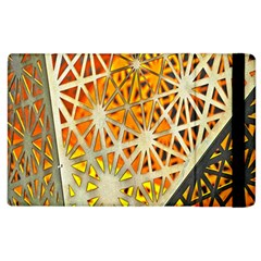 Abstract Starburst Background Wallpaper Of Metal Starburst Decoration With Orange And Yellow Back Apple Ipad 2 Flip Case by Nexatart