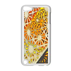 Abstract Starburst Background Wallpaper Of Metal Starburst Decoration With Orange And Yellow Back Apple Ipod Touch 5 Case (white) by Nexatart