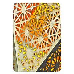 Abstract Starburst Background Wallpaper Of Metal Starburst Decoration With Orange And Yellow Back Flap Covers (s)  by Nexatart