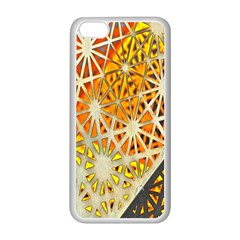 Abstract Starburst Background Wallpaper Of Metal Starburst Decoration With Orange And Yellow Back Apple Iphone 5c Seamless Case (white) by Nexatart