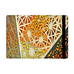 Abstract Starburst Background Wallpaper Of Metal Starburst Decoration With Orange And Yellow Back Ipad Mini 2 Flip Cases by Nexatart