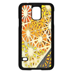 Abstract Starburst Background Wallpaper Of Metal Starburst Decoration With Orange And Yellow Back Samsung Galaxy S5 Case (black) by Nexatart