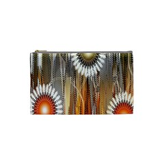 Floral Abstract Pattern Background Cosmetic Bag (small)  by Nexatart