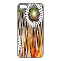 Floral Abstract Pattern Background Apple Iphone 5 Case (silver)