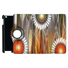 Floral Abstract Pattern Background Apple Ipad 2 Flip 360 Case by Nexatart