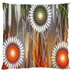 Floral Abstract Pattern Background Large Flano Cushion Case (two Sides) by Nexatart