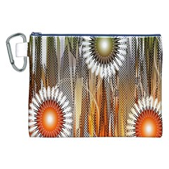 Floral Abstract Pattern Background Canvas Cosmetic Bag (xxl) by Nexatart
