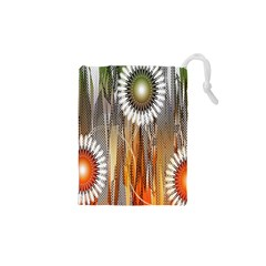 Floral Abstract Pattern Background Drawstring Pouches (XS)  by Nexatart