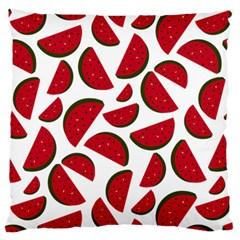 Fruit Watermelon Seamless Pattern Large Flano Cushion Case (two Sides) by Nexatart