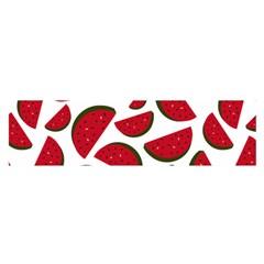 Fruit Watermelon Seamless Pattern Satin Scarf (oblong) by Nexatart