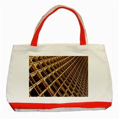 Construction Site Rusty Frames Making A Construction Site Abstract Classic Tote Bag (red) by Nexatart