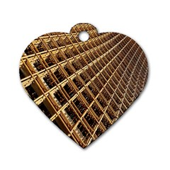 Construction Site Rusty Frames Making A Construction Site Abstract Dog Tag Heart (one Side) by Nexatart