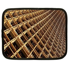 Construction Site Rusty Frames Making A Construction Site Abstract Netbook Case (xl)  by Nexatart