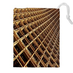 Construction Site Rusty Frames Making A Construction Site Abstract Drawstring Pouches (xxl) by Nexatart
