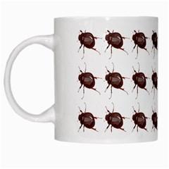 Insect Pattern White Mugs by Nexatart