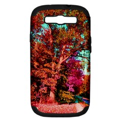 Abstract Fall Trees Saturated With Orange Pink And Turquoise Samsung Galaxy S Iii Hardshell Case (pc+silicone) by Nexatart
