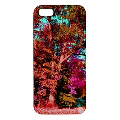 Abstract Fall Trees Saturated With Orange Pink And Turquoise Iphone 5s/ Se Premium Hardshell Case by Nexatart
