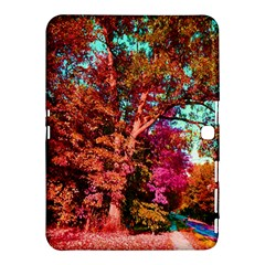 Abstract Fall Trees Saturated With Orange Pink And Turquoise Samsung Galaxy Tab 4 (10 1 ) Hardshell Case  by Nexatart