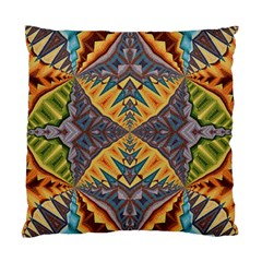 Kaleidoscopic Pattern Colorful Kaleidoscopic Pattern With Fabric Texture Standard Cushion Case (one Side) by Nexatart