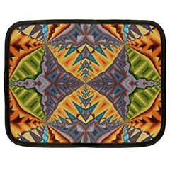 Kaleidoscopic Pattern Colorful Kaleidoscopic Pattern With Fabric Texture Netbook Case (xxl)  by Nexatart