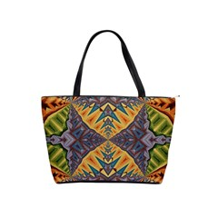 Kaleidoscopic Pattern Colorful Kaleidoscopic Pattern With Fabric Texture Shoulder Handbags by Nexatart
