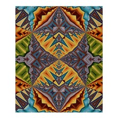Kaleidoscopic Pattern Colorful Kaleidoscopic Pattern With Fabric Texture Shower Curtain 60  X 72  (medium)  by Nexatart