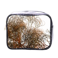 Digitally Painted Colourful Winter Branches Illustration Mini Toiletries Bags by Nexatart