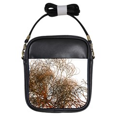 Digitally Painted Colourful Winter Branches Illustration Girls Sling Bags by Nexatart