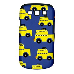 A Fun Cartoon Taxi Cab Tiling Pattern Samsung Galaxy S Iii Classic Hardshell Case (pc+silicone) by Nexatart
