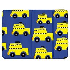 A Fun Cartoon Taxi Cab Tiling Pattern Samsung Galaxy Tab 7  P1000 Flip Case by Nexatart