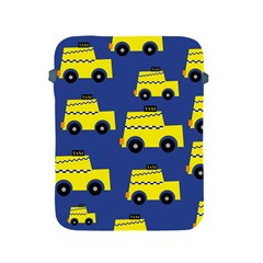 A Fun Cartoon Taxi Cab Tiling Pattern Apple Ipad 2/3/4 Protective Soft Cases by Nexatart