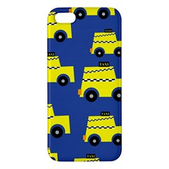A Fun Cartoon Taxi Cab Tiling Pattern Iphone 5s/ Se Premium Hardshell Case by Nexatart