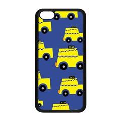 A Fun Cartoon Taxi Cab Tiling Pattern Apple Iphone 5c Seamless Case (black) by Nexatart