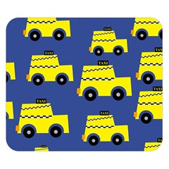 A Fun Cartoon Taxi Cab Tiling Pattern Double Sided Flano Blanket (small)  by Nexatart