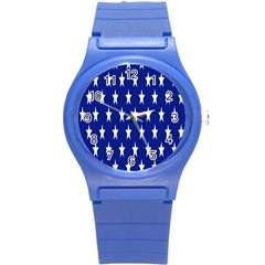 Starry Header Round Plastic Sport Watch (s) by Nexatart
