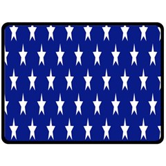 Starry Header Double Sided Fleece Blanket (large)  by Nexatart