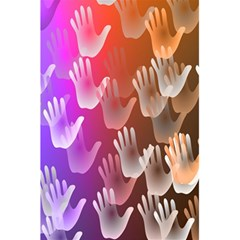 Clipart Hands Background Pattern 5 5  X 8 5  Notebooks by Nexatart