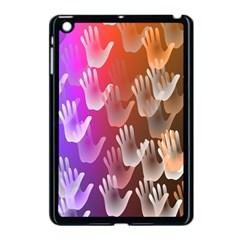 Clipart Hands Background Pattern Apple Ipad Mini Case (black) by Nexatart