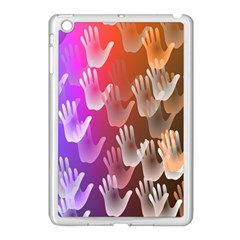 Clipart Hands Background Pattern Apple Ipad Mini Case (white) by Nexatart