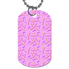 Confetti Background Pattern Pink Purple Yellow On Pink Background Dog Tag (two Sides) by Nexatart