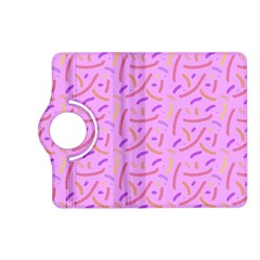Confetti Background Pattern Pink Purple Yellow On Pink Background Kindle Fire Hd (2013) Flip 360 Case by Nexatart