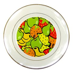 Digitally Created Funky Fruit Wallpaper Porcelain Plates by Nexatart