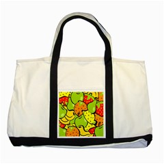 Digitally Created Funky Fruit Wallpaper Two Tone Tote Bag by Nexatart