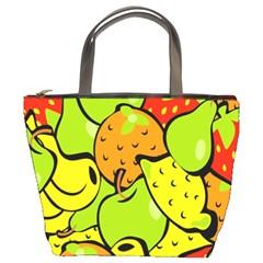 Digitally Created Funky Fruit Wallpaper Bucket Bags by Nexatart