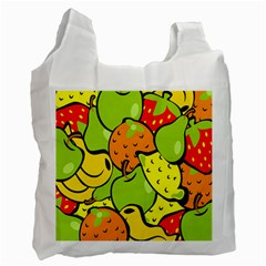 Digitally Created Funky Fruit Wallpaper Recycle Bag (Two Side)  by Nexatart