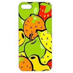 Digitally Created Funky Fruit Wallpaper Apple iPhone 5 Hardshell Case with Stand by Nexatart